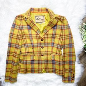 ❤️SOLD❤️Fillmore Studio California Yellow Plaid